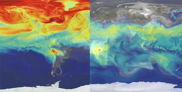 Het zichtbare effect van CO2 in onze atmosfeer
