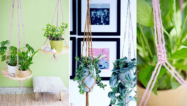 Macramé-hanger knopen voor je planten